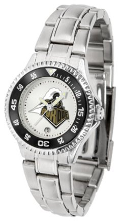 SunTime Purdue Boilermakers Competitor Ladies Watch with Steel Band