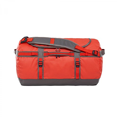 The North Face Base Camp Duffel Small Acrylic Orange/Falcon Brown by The North Face