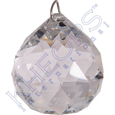 Prism Crystal 20 mm Faceted Sphere CLear