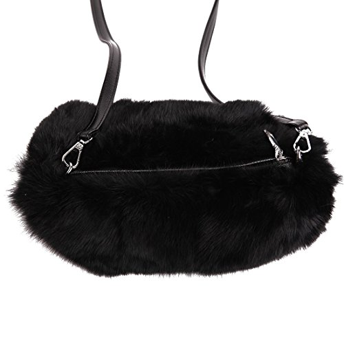 Rabbit Fur Muff (URSFUR Women Warm Hand Muff Genuine Rabbit Fur Bag Purse Winter Hand Warmer)