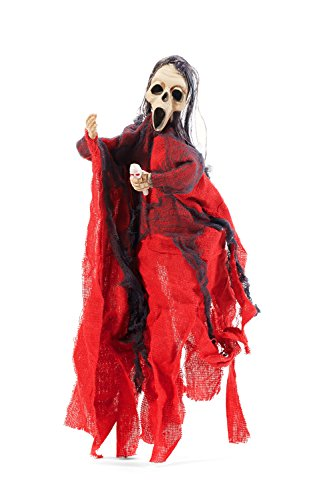 Hanging Animated Undead Skeleton Death Ghost House Prop Decor Halloween Parties (Red, Gray, Flesh (Caras De Esqueletos Halloween)