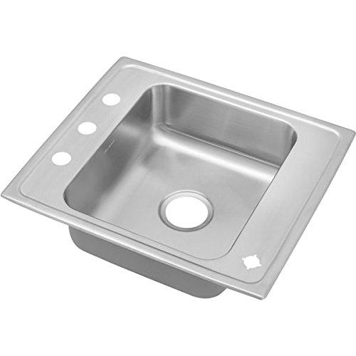 - 18 Gauge Stainless Steel 25' X 22' X 7.625' Single Bowl Top Mount Sink