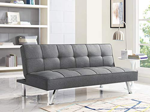 Lifestyle Solutions Living Room Bed - Serta SC-CLTS3LU2043 Cairns Upholstered Convertible Sofa, ((66