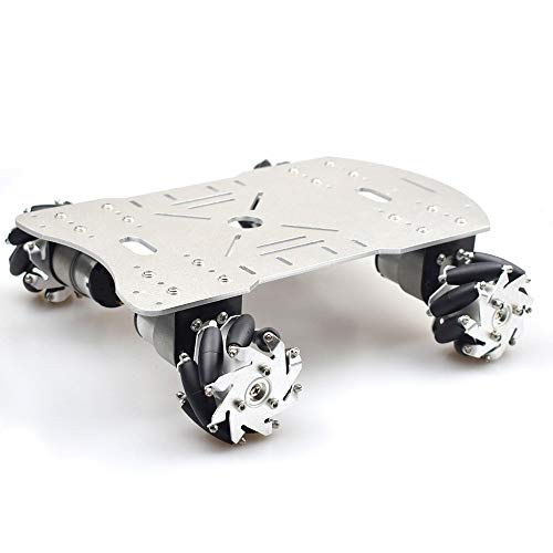 Moebius Metal Mecanum Wheel Robot Car Kit with 4pcs 12V DC Motor, 4WD Robot Platform Chassis for Arduino / Raspberry Pie / STM32 DIY ()