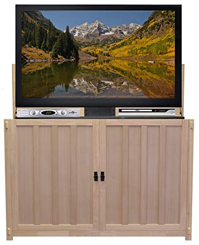Touchstone 74106 - Grand Elevate TV Lift Cabinet - Mission Unfinished - TVs Up to 65 Inch Diagonal (58.5
