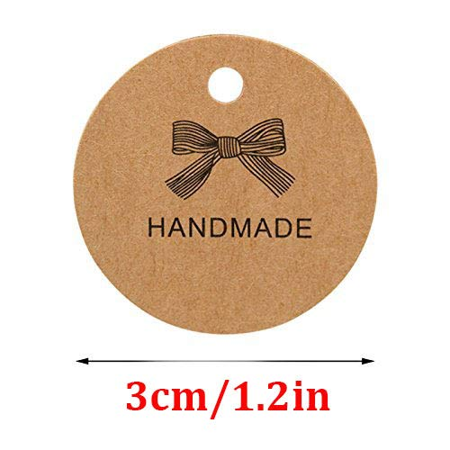 etichette rotonde per compleanni etichette di carta marrone etichette da appendere con 20 metri di spago di iuta bagagli 100 etichette per regali in carta kraft 3 cm