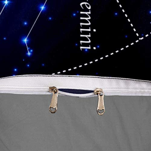 ASDFSD Parure de lit 3 pièces Motif constellations du zodiaque