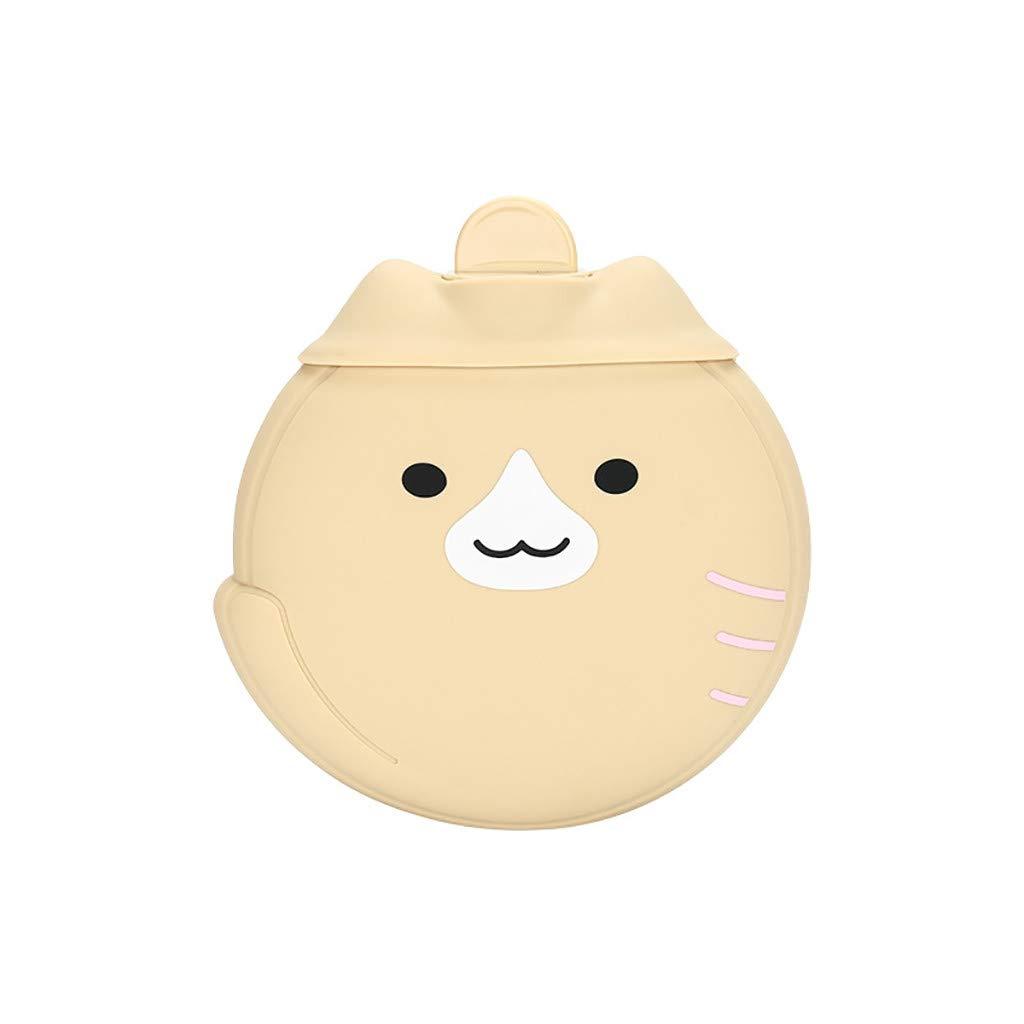 AGUIguo Hot Water Bottle 450ML Silicone Warm Handbag Kawaii Cartoon Animals Winter Gift for Christmas,Thanksgiving,Birthday,Girls Boys,Coffee