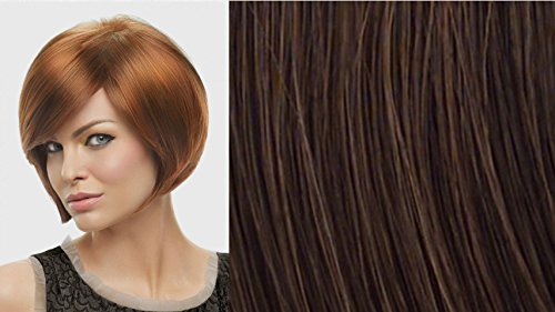 Layered Bob  Color R6/30H CHOCOLATE COPPER - Hairdo Wigs Soft Side Swept Bang Tru2Life Heat Friendly Synthetic Volume Sleek (Copper Curve)