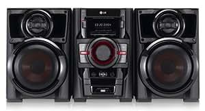 LG RAD125 sistema de audio para el hogar - Microcadena (Mini set, Negro, Tray disc loader, De 2 vías, AM, FM, No compatible)