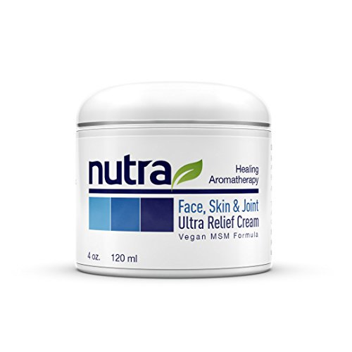 Nutra Face, Skin & Joint Ultra Relief MSM Cream - Organic - Vegan Non-GMO Plant Base Clean Formula (Msm Joint Cream)