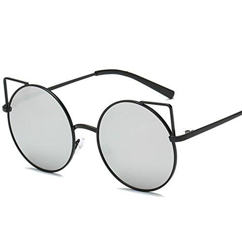 Hundidas De Street De Gafas Gafas De Sol JUNHONGZHANG Gato Ojo De UN Gafas Sol Sol F Metal Gafas Sol Lady Ocean Circulares De wFRTFqxIZ