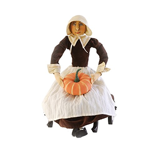 Gallerie II Gathered Traditions Prudence Pilgrim Collectible Figurine, Brown -