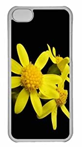LJF phone case Customized iphone 6 plus 5.5 inch PC Transparent Case - Yellow Flower 2 Personalized Cover