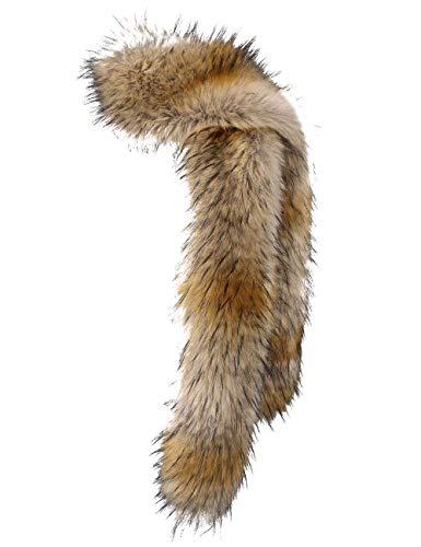 NAFLEAP Women Winter Warm Faux Fox Fur Scarf Collar Long Wrap Scarf Stole Shawl Shrug (Light Fox, Onesize)]()