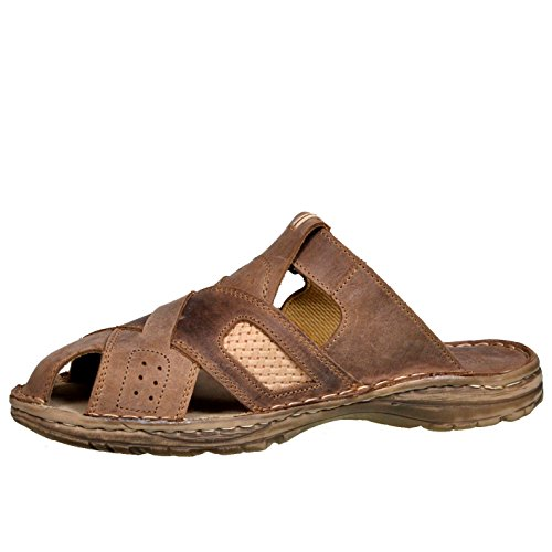 Buffelleder Einlage Lukpol Schuhe Aus Modell Beige der 868 Orthopadischen mit Bequeme Hausschuhe Sandalen Herren Echtem qqRHUv