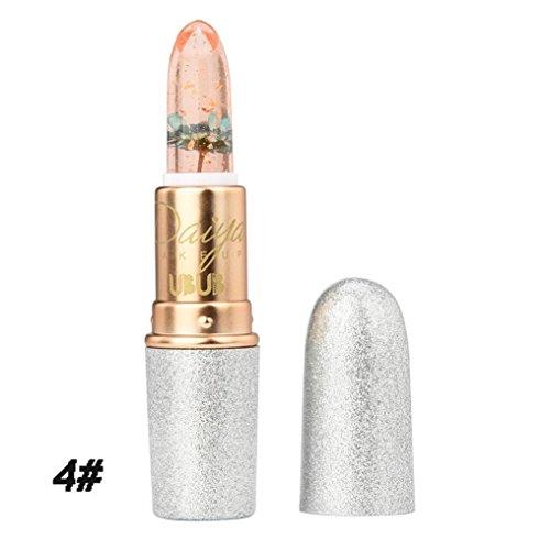 Hunputa Lipstick,Women Professional New Beauty Bright Flower Crystal Jelly Lipstick Magic Temperature Change Color Lip (4PCS) by Hunputa (Image #4)'