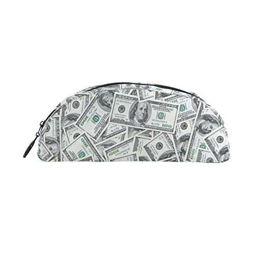 Pencil Case Holders Full of 100 Dollar Bills Pen Stationery Pouch Bag with Zipper Makeup for Kids Girls Boys