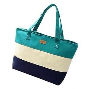 Women Large Canvas Shoulder Bag Handbag Cross-body Bags Cheap Colors for Girl by TOPUNDER YT