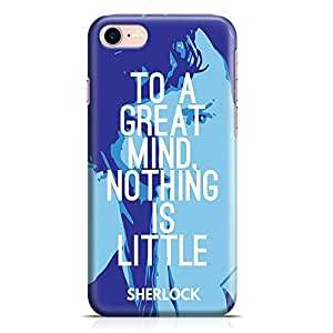 Loud Universe iPhone 8 Case Sherlock Holmes Case To a Great Mind Tv Show Durable Scratch Resistant Light Weight Wrap Around iPhone 8 Cover