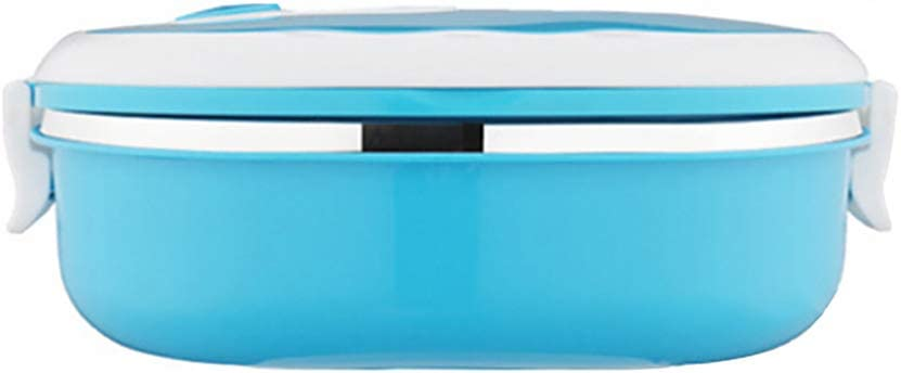 vwlvrsco 1/2 Layer Protable Rectangle Stainless Steel Large Capacity Thermal Lunch Box Case Food Storage Container