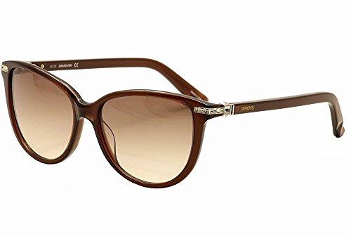 Swarovski Edith SK0077 C56 48F (shiny dark brown / gradient brown)