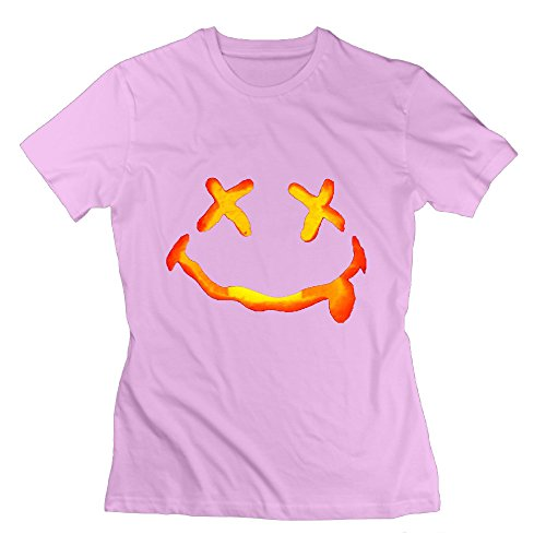 Women's Vintage Halloween Costumes Ideas Pumpkins Face Tshirt Size M Color Pink ()