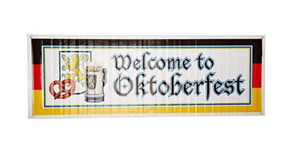 Amazon.com: Cartel de bienvenida al Oktoberfest, accesorio ...