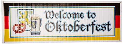 Beistle 57643 Welcome to Oktoberfest Sign Banner, 5-Feet by 21-Inch -