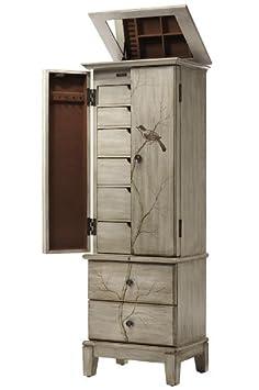 Amazoncom Chirp Jewelry Armoire 47Hx16Wx12D PEWTER Kitchen
