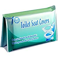 Palenolia Disposable Toilet Seat Covers for Kids & Adults, 10 Pack - Protect from Public Toilet Germs While Potty…