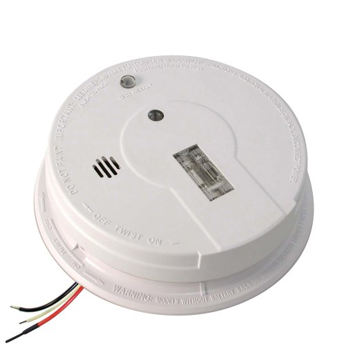 Kidde AC Hardwired Interconnect Smoke Alarm with Safety Light I12080