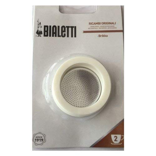 (Bialetti - Brikka 2 Cup 3 Gaskets, Filter Plate Blister)