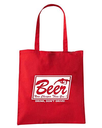 Speed BEER Rossa FUN0735 Borsa THAN Shopper GAS Shirt CHEAPER zwrAxpzH