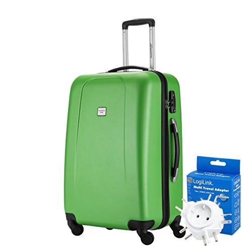 HAUPTSTADTKOFFER® 67 Liter Reisekoffer · WEDDING · TSA · MATT · (in versch. Farben) + REISEADAPTER (Schwarz) Apfelgrün