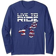Live To Ride BMX Motocross Bikes Long Sleeve T-Shirt gift