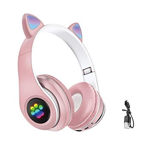 ompait Over-Ear Wireless Headphones, Bluetooth 5.0 Music Listening Cute Cat Ear Wireless Headphone, Foldable Wireless…