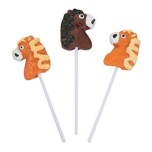 Horse-Shaped Suckers - Candy & Suckers & Lollipops, 17g each - 12 Pieces -