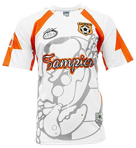 Arza Sports Tampico Mexico Fan Soccer Jersey Color White,Orange (White, X-Large)