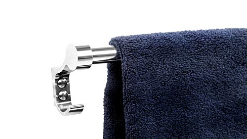FORTUNE 18 INCH Stainless Steel Bathroom Hook Towel Rod Holder | Wall Mounted Hand Towel Rail for Kitchen and Washroom 4