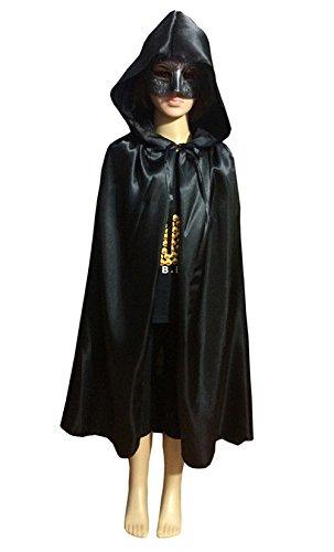 JUJU MALL-HALLOWEEN Cosplay VAMPIRE MAGICIAN COSTUME Hooded CAPE Kids Cloak Wicca Robe NEW (M)