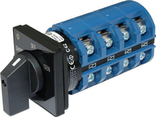 AC Rotary Switch - OFF + 2 Positions 120/240V AC 65A