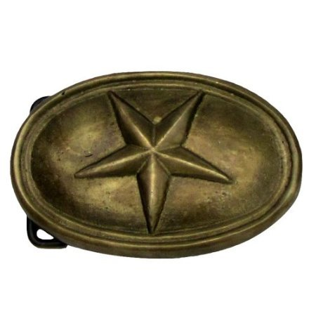 Civil War Belt Buckles - Antique Brass TEXAS STAR CIVIL WAR Belt BUCKLE