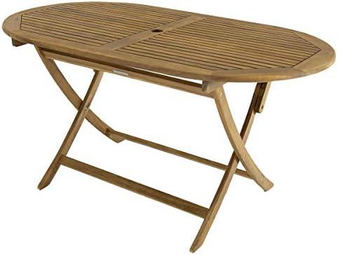 Bentley – Tavolo da Giardino Ovale Pieghevole – Legno