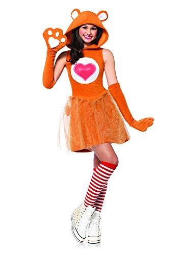 Leg Avenue Junior's Care Bears 2 Piece Tenderheart Bear Costume, Tan, Small/Medium -