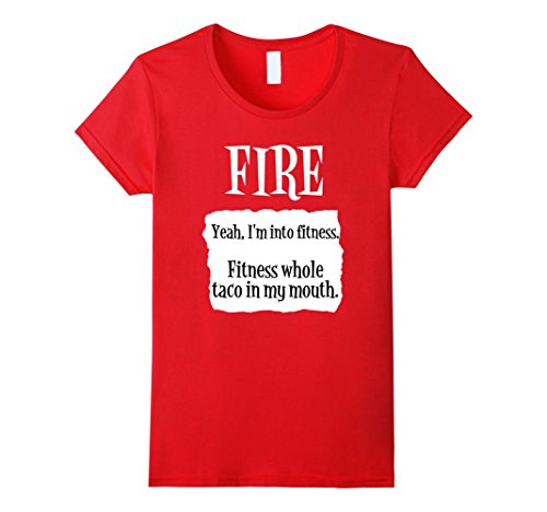 Womens Fitness Whole Taco Fire Hot Sauce Group Halloween Costume Medium Red