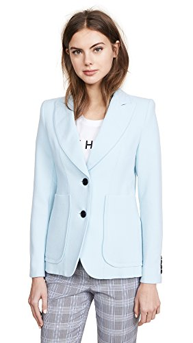Smythe Wool Coat - SMYTHE Women's Portrait Neck Blazer, Baby Blue, 8