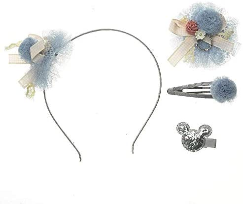 HUHU。 子供のアクセサリーヘアバンドヘアピンチューインガム女の赤ちゃんかわいいちょう結び頭飾りヘアピン ヘアピン (Color : 4pcs gray)