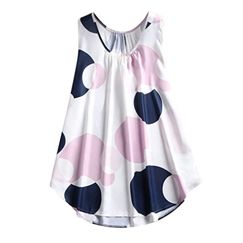 - TWinmar -Women Plus Size Camis for Women, Big Wave Print Tops Casual Sleeveless Sport T-Shirt Summer Tunic Vest