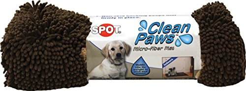 Paw Clean Mat (Ethical Pets Ethical Pet Clean Paws Microfiber Dog Mat 31 x 20 Brown)
